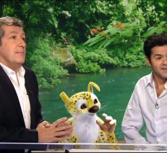 Jamel Debbouze et Alain Chabat sur le plateau du 20...