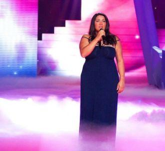 Amalya sur le plateau de 'The Voice'