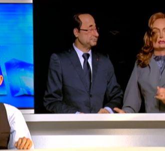 Valérie Trierweiler aux 'Guignols' de Canal+.
