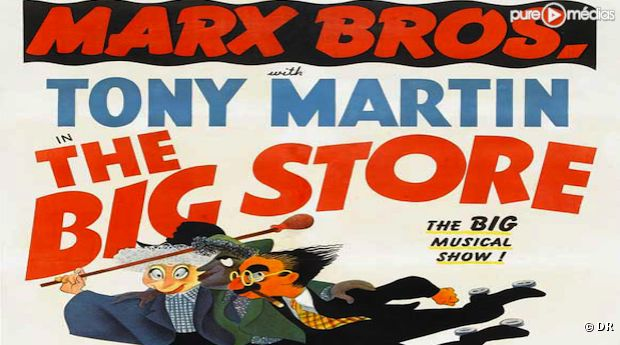 "Affiche du film ""The Big Store"" avec Tony Martin"