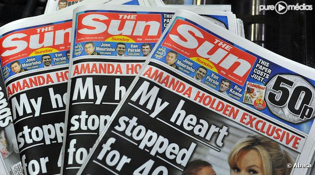 """Le tabloïd """"The Sun"""", propriété du groupe News Corporation"""