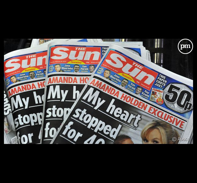 "Le tabloïd ""The Sun"", propriété du groupe News Corporation"