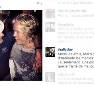 Johnny Hallyday s'exprime sur Instagram