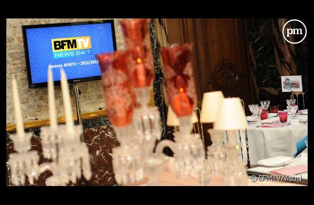 Paris, le 29 août 2012. Déjeuner de presse de rentrée de BFMTV.
