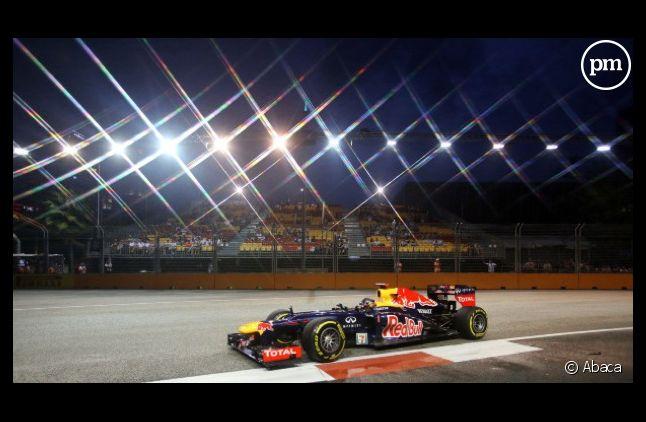 La Formule 1 de Sebastien Vettel au Grand Prix de Singapour.