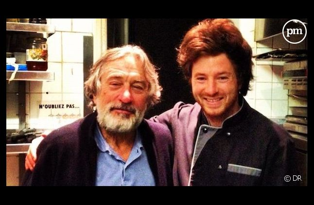 "Jean Imbert, le lauréat de ""Top Chef"" 2012, avec Robert De Niro."