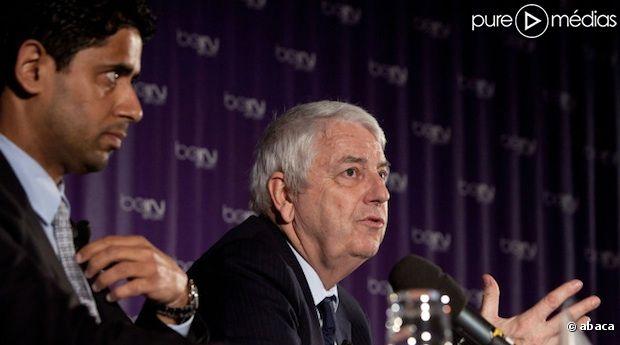 <span>Nasser Al Khelaifi, le président of beIN Sport et son vice-président Charles Bietry.</span>