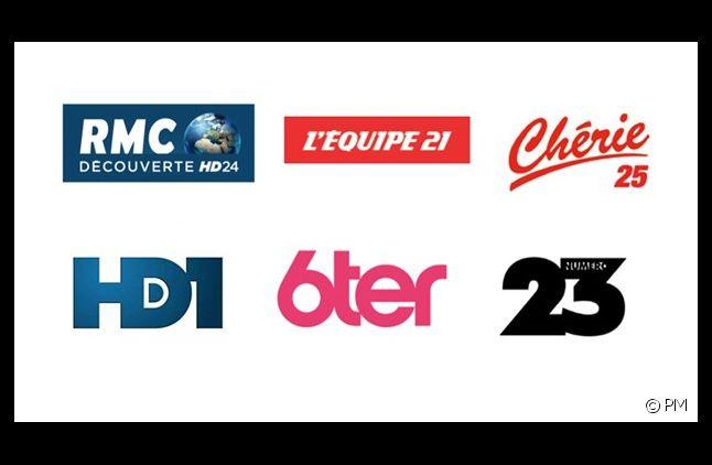 Les 6 nouvelles chaînes lancées le 12/12/12.