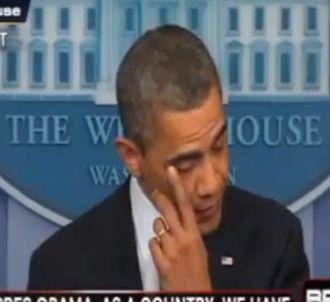 Barack Obama en larmes après la tuerie de Newtown