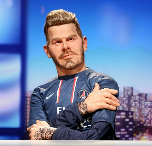 David Beckham version latex, sur Canal+.