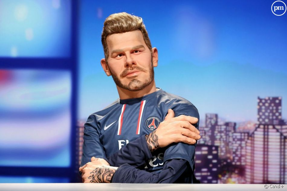 David Beckham version latex, sur Canal+.