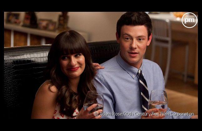 "Lea Michele et Corey Monteith dans ""Glee"""