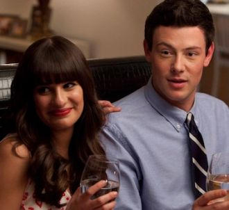 Lea Michele et Corey Monteith dans 'Glee'