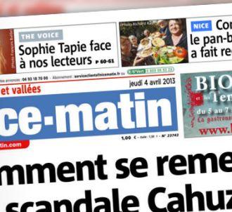 Sophie Tapie à la Une de 'Nice Matin', le journal de son...