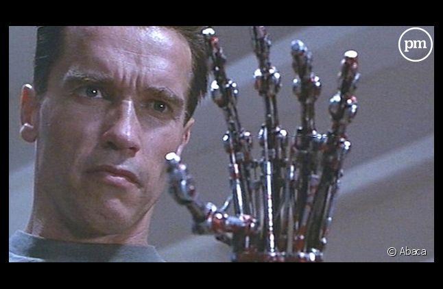 "Arnold Schwarzenegger dans ""Terminator 2"" en 1991"