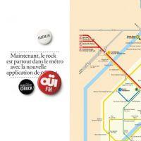 Pub : La radio rock OÜI FM rebaptise les stations du métro parisien