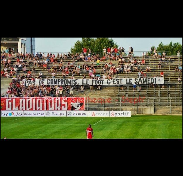 Des banderoles anti-beIN Sport.