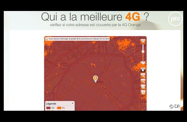Sur son site, Orange annonce une couverture totale de Paris en 4G. Mais selon l'UFC, elle n'est que de 79,3%.