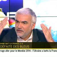 Grosse colère de Pascal Praud sur i-TELE après la défaite des Bleus face à l'Ukraine