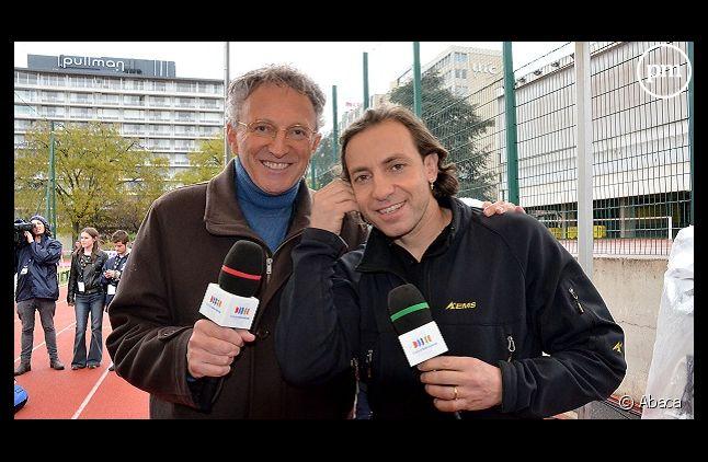 Nelson Monfort et Philippe Candeloro
