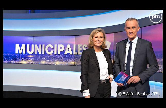 Claire Chazal et Gilles Bouleau, duo inédit pour la soirée municipale de TF1.