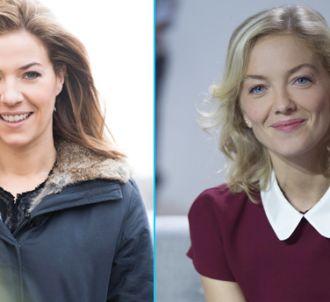 Claire Barsacq et Maya Lauqué dans 'C à vous' pendant une...
