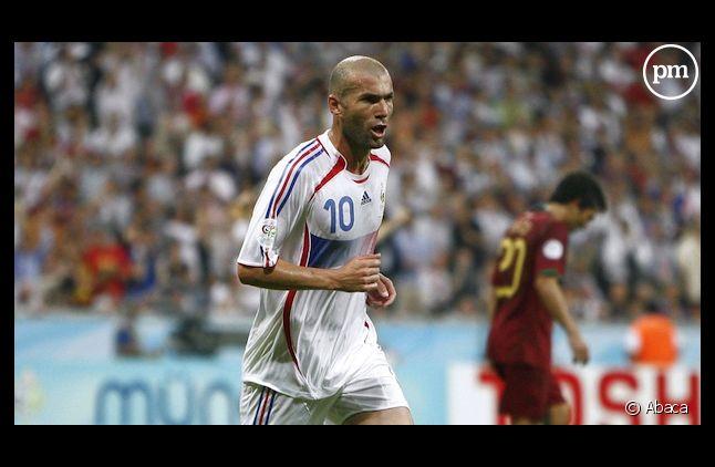 Zinedine Zidane lors du match France-Portugal en 2006