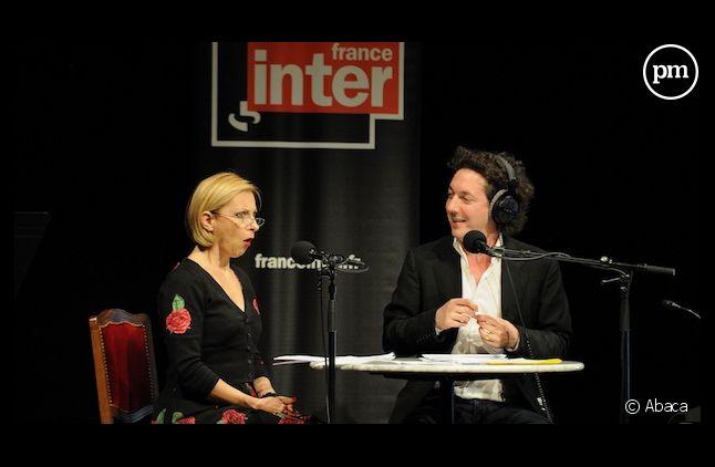Nathalie Dessay en 2012 sur France Inter en compagnie de Guillaume Gallienne