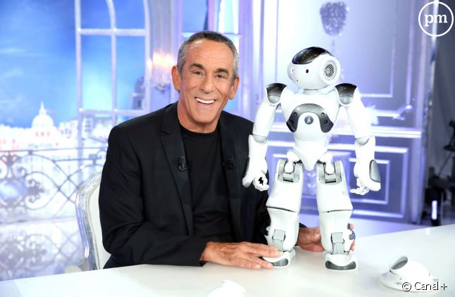 Thierry Ardisson et son petit robot Jean-Mi.