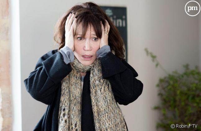 """Clémentine Célarié dans """"Accusé"""", pour France 2."""