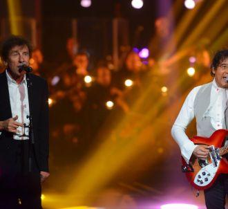 Laurent Voulzy et Alain Souchon aux Victoires de la...