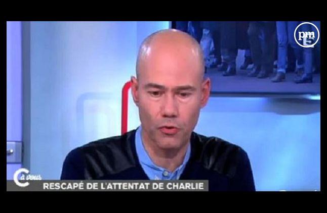 """Laurent Léger (Capture dans """"C à vous"""" le 12 janvier 2015)"""