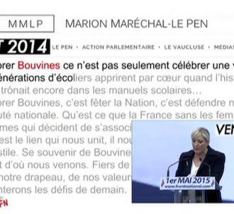 Marine Le Pen prise en flagrant délit de copier-coller