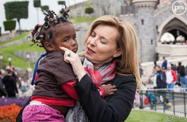 Valérie Trierweiler à Disneyland Paris pour le Secours Populaire