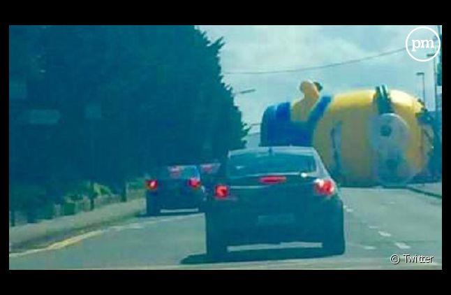 Le Minion en travers de la route (Capture)