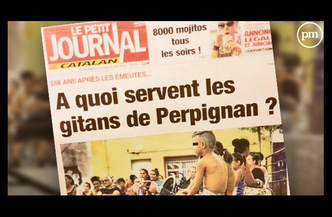 """La Une polémique du """"Petit Journal Catalan""""."""