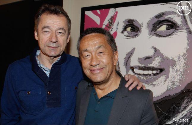 Michel Denisot et Renaud Le Van Kim, en 2014.