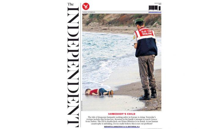 """La Une de """"The Independent""""."""