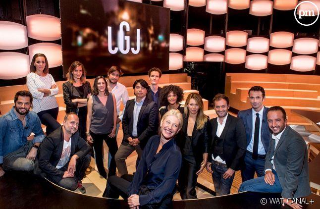 """Maïtena Biraben et la nouvelle équipe du """"Grand Journal"""""""