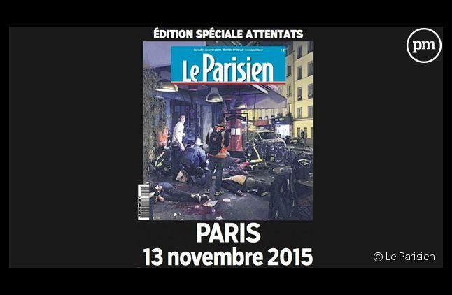 La Une sanglante du Parisien