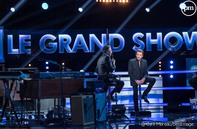 """<div class=""""desc pair"""">Michel Drucker présente le """"Grand Show : Spécial Johnny Hallyday</div>"""