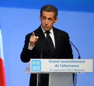 Nicolas Sarkozy en meeting en septembre