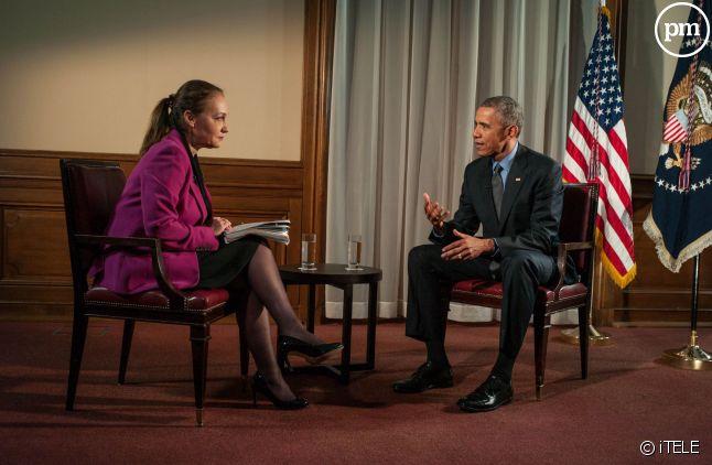 Laurence Haïm et Barack Obama.