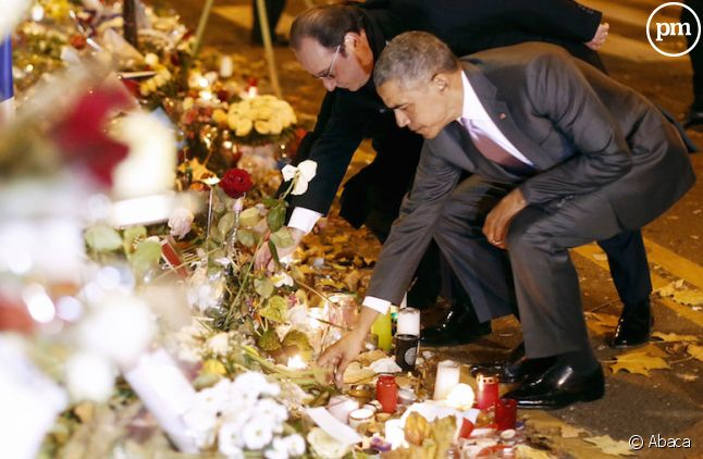 François Hollande et Barack Obama rendent hommage aux victimes du Bataclan