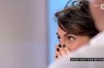 """Alessandra Sublet très émue par un message de son mari dans """"C à vous"""""""
