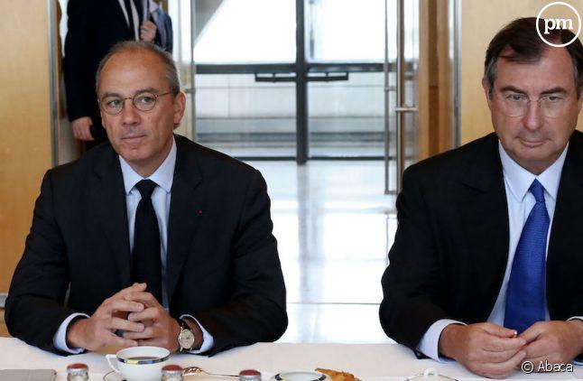 Stéphane Richard et Martin Bouygues au ministère de l'Economie en 2012