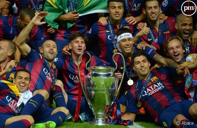 L'équipe de Barcelone, gagnante de la Ligue des champions en 2015