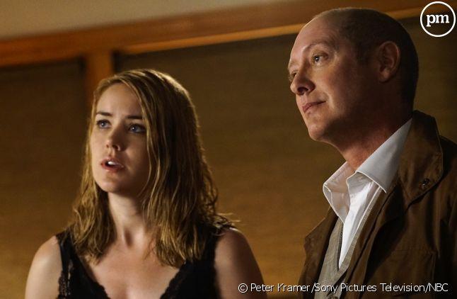 """Megan Boone et James Spader dans """"Blacklist"""" saison 3"""