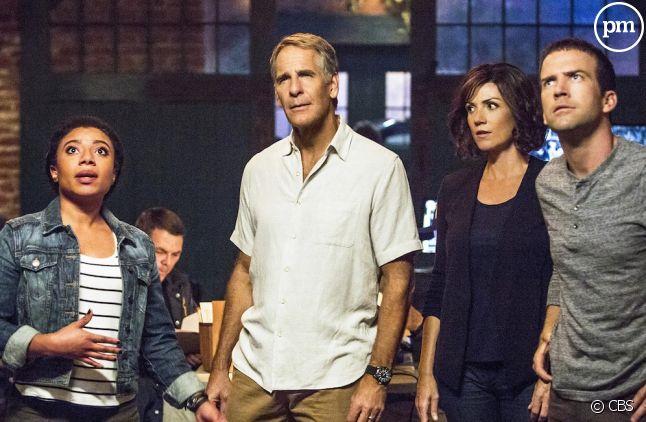 """<span>Shalita Grant, Scott Bakula, Zoe McLellan et Lucas Black dans """"NCIS : Nouvelle Orléans""""</span>"""