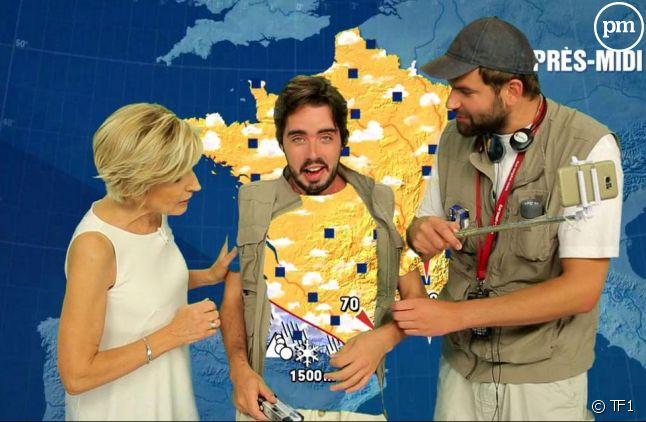 Eric et Quentin avec Évelyne Dhéliat